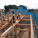 K様邸新築工事(67)建て方・太鼓梁と桁・梁の詳細へ